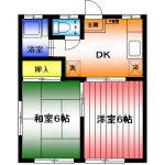 カーサやよい2番館103 湘南台4丁目賃貸2DKアパート 画像1